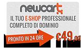 NewCart - Il tuo e-commerce professionale completo di dominio!