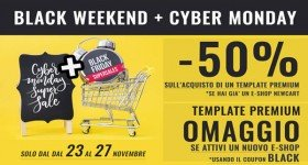 Promo Black  Friday con NewCart sui Template Premium