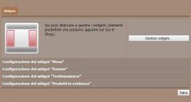 Gestione dei due blocchi laterali della home page e relativi Widgets