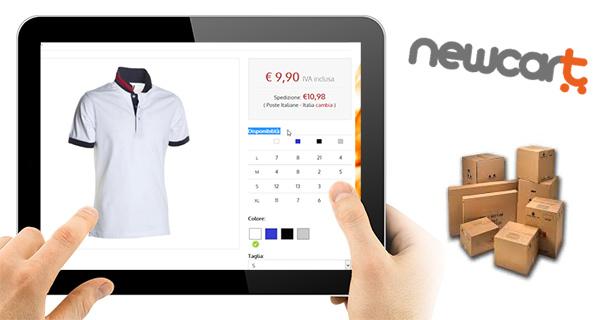 Con NewCart mostri la disponibilità per caratteristiche nella scheda prodotto