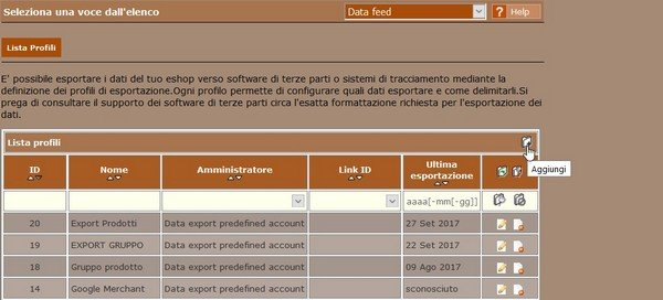 Come creare un Data Feed per esportare i dati del tuo e-shop 01