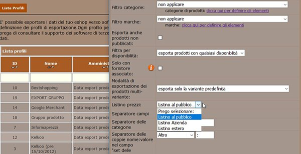 Come creare un Data Feed per esportare i dati del tuo e-shop 13