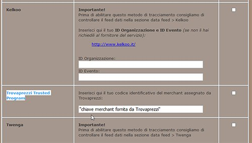 Trusted Program di Trovaprezzi su NewCart 4