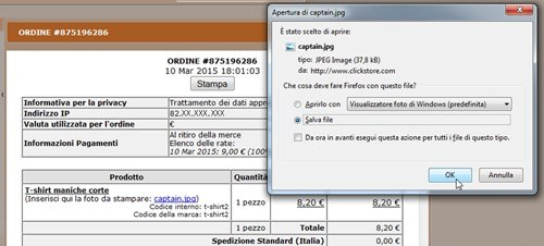 Newcart download file associato al prodotto
